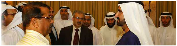 with HE Sheik Rashid Al Makthoom Ruler of Dubai and Prime Minister of UAE in 2007