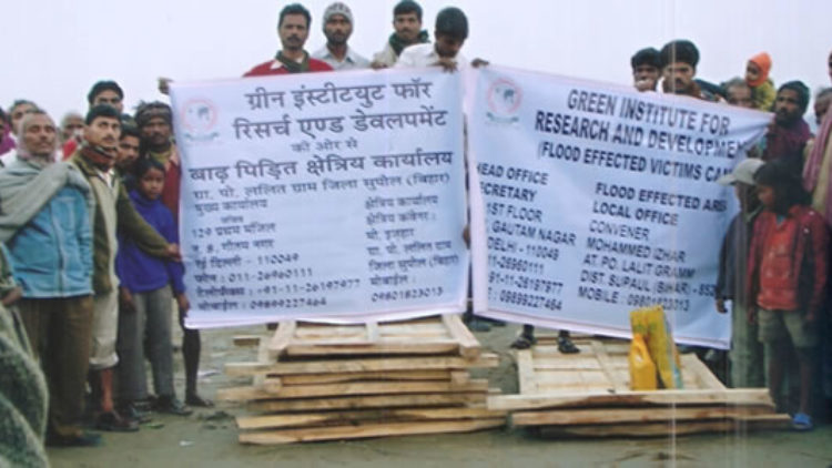 Volunteers for relief and rehabilitation work
